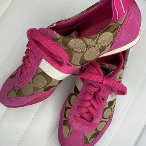 Coach Kortney signature C sneakers pink
